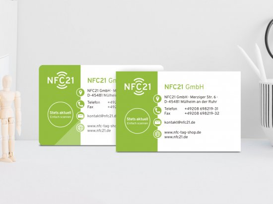 Individualize NFC-vCard