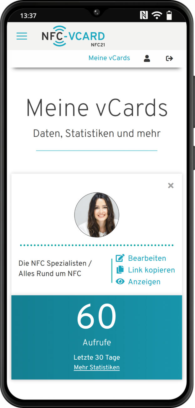 NFC-vCard - Everything at a glance